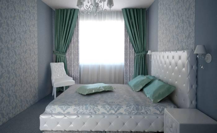 Многочисленное использование вензелей в спальне