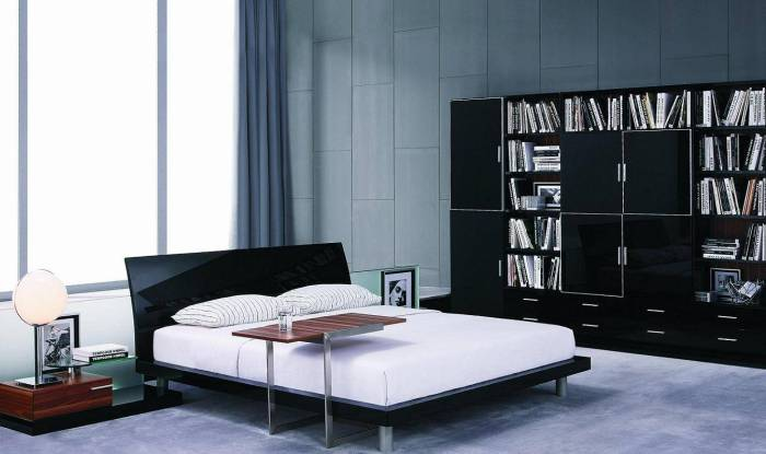 Применение стиля хай-тек для спальни