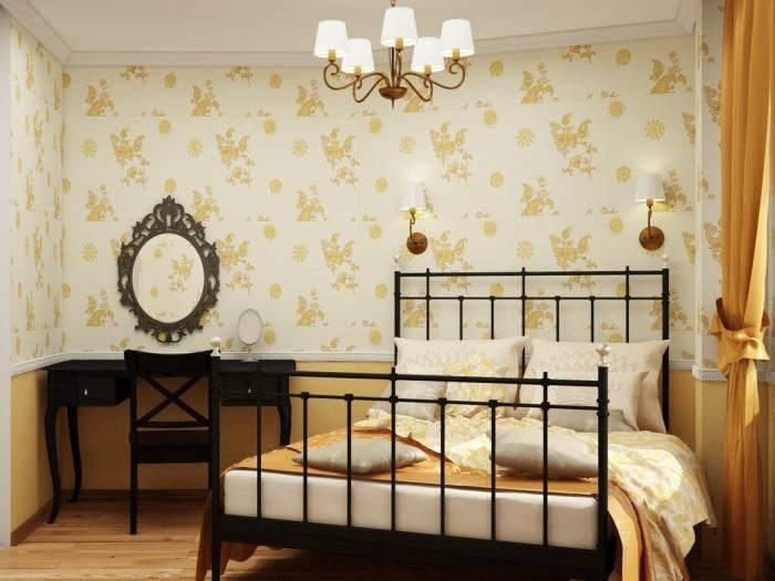 Какие обои выбрать для маленькой спальни