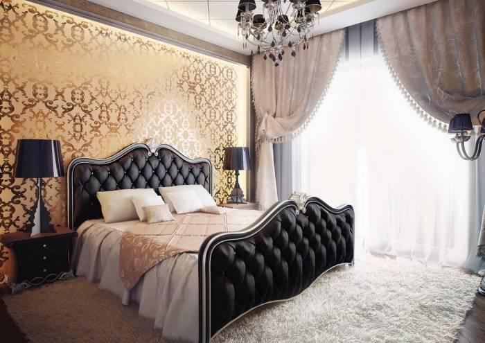 Варианты обоев в спальню