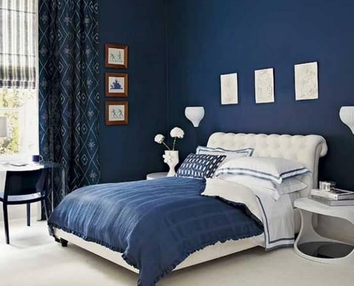 Применение обоев под покраску в спальне