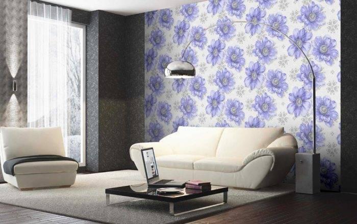 Стильный интерьер гостиной комнаты