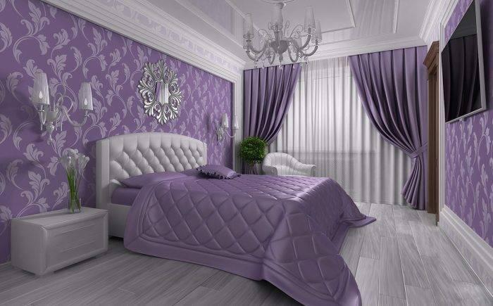 Дизайн-проект шикарной спальни в приятных тонах