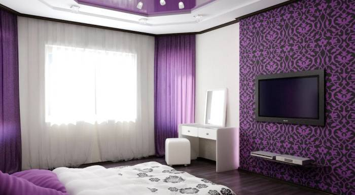 Применение удачных цветовых решений в спальне