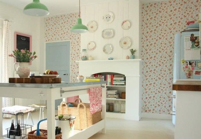 Использование стиля кантри на кухне