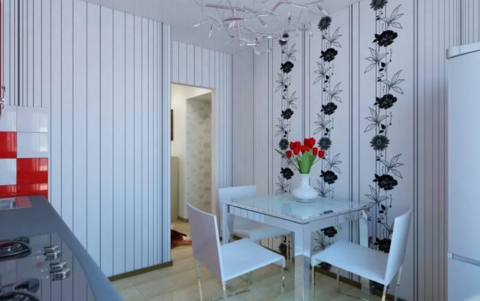 Применение на кухне черного и белого цветов