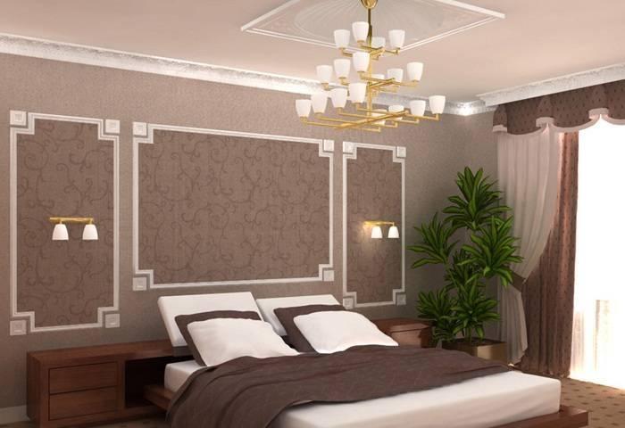 Применение молдинга в спальне
