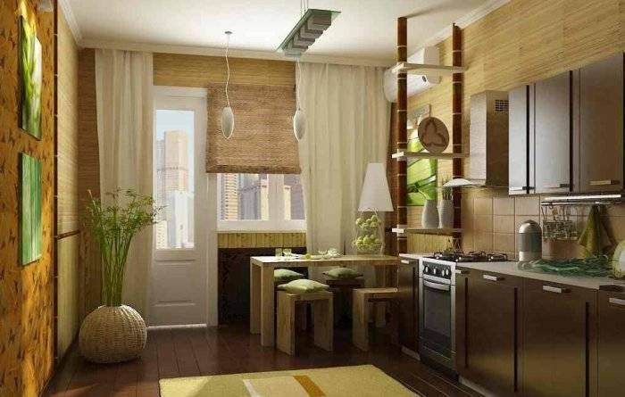Использование на кухне бамбуковых обоев