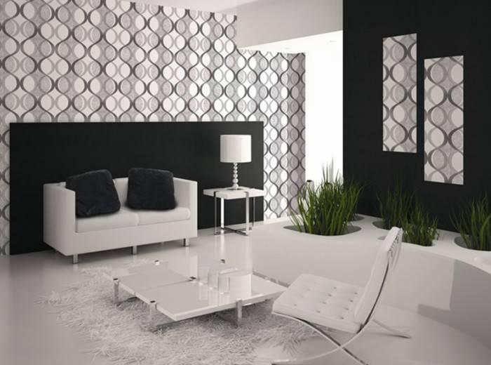 Простые цвета в интерьере комнаты