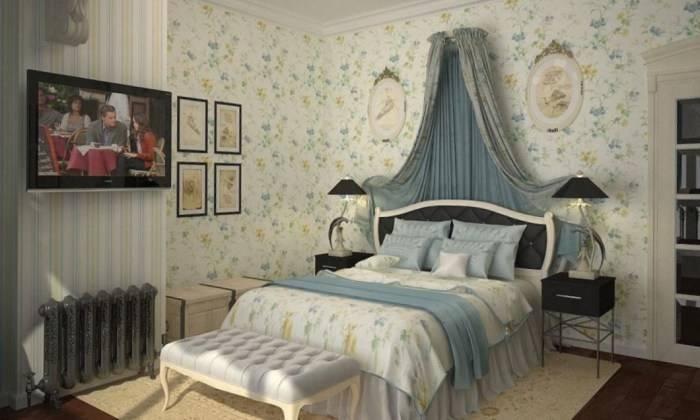 Светлый и легкий интерьер спальни