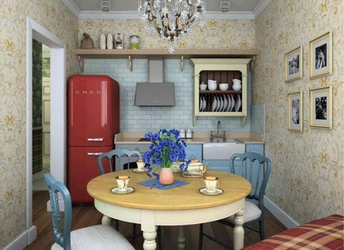 Планировка в самой маленькой кухне