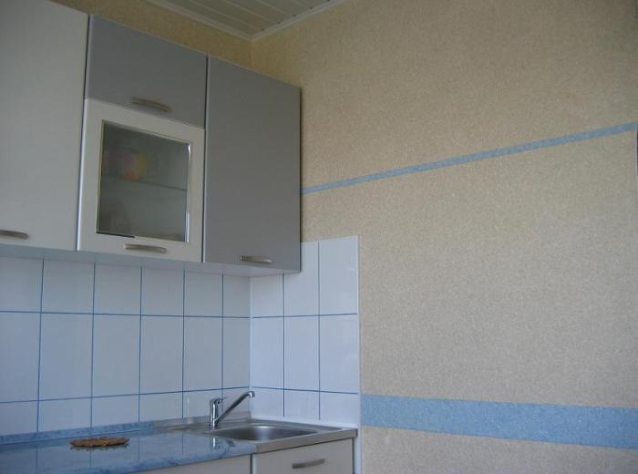 Приятная цветовая палитра интерьера кухни