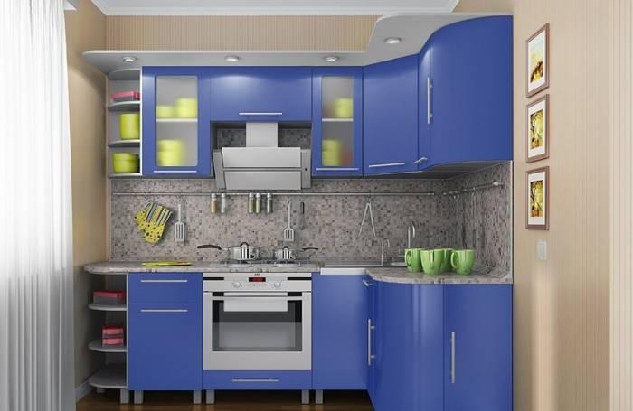 Использование на кухне контрастного интерьера