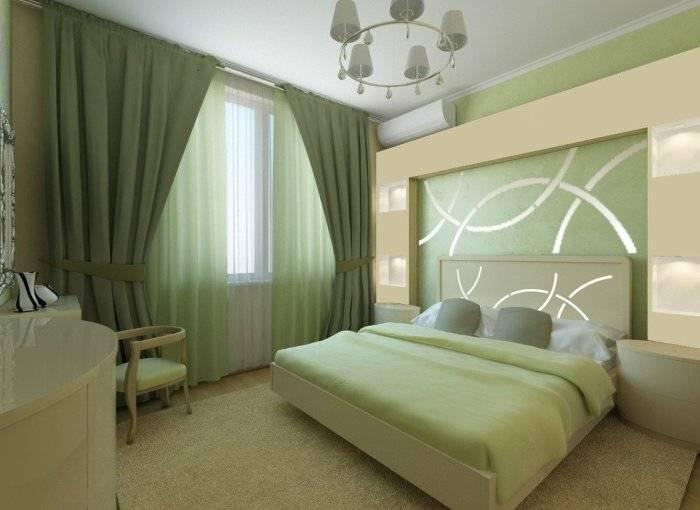 Продуманный дизайн маленькой спальни