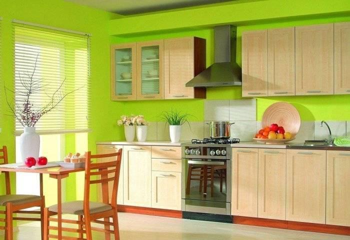 Яркие, симпатичные стены на кухне