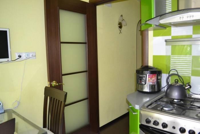 Зеленый оттенки в интерьере кухни