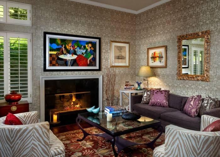 Шикарный интерьер гостиной комнаты