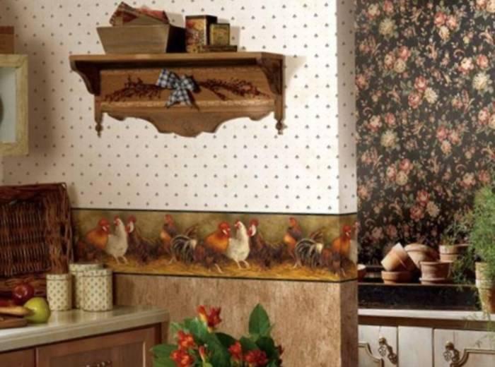 Использование стиля кантри для интерьера кухни