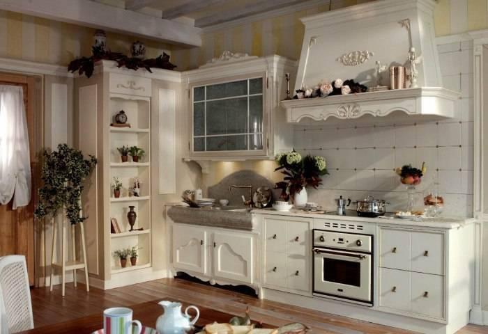 Просторная кухня в светлых тонах