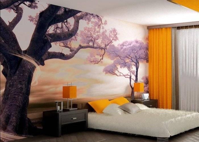 Удачно подобранные цвета в спальне