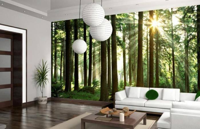 Техмерный лес в гостиной комнате