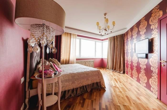 Современная отделка спальни