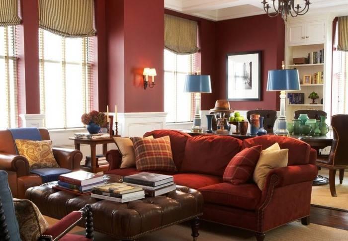 Большая гостиная комната в доме
