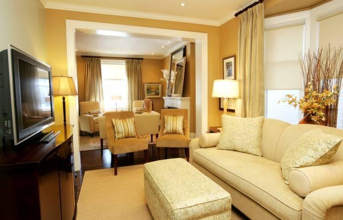 Использование оттенков желтого в интерьере всей квартиры