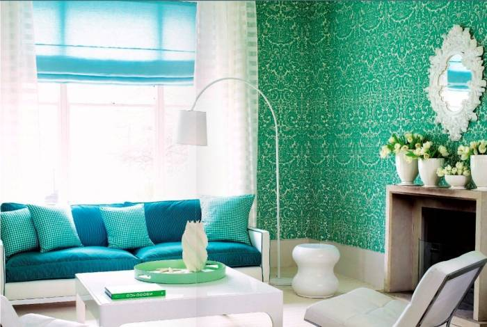 Гармоничный интерьер гостиной комнаты
