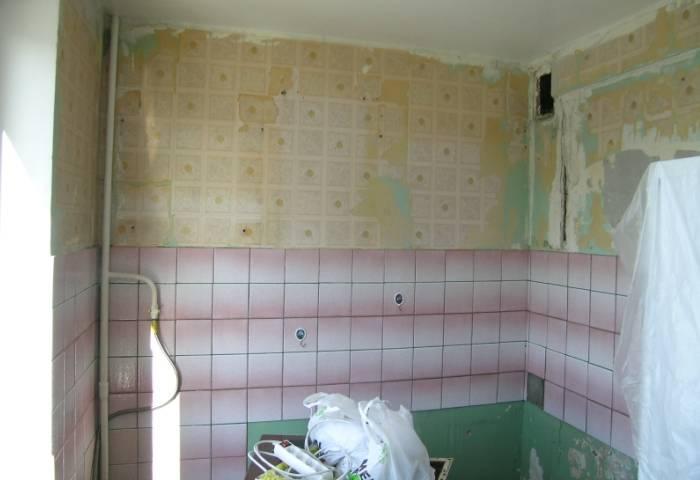 Вот так выглядит подготовленная к ремонту кухня