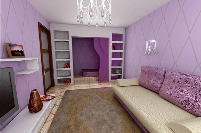 Обои с простой расцветкой для гостиной комнаты