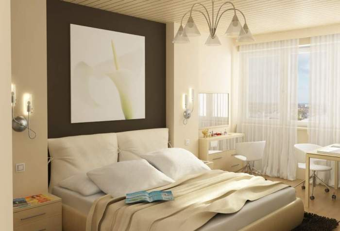Классическая маленькая спальня