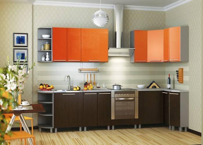 Кухонные обои с простым рисунком