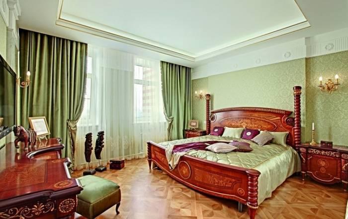 Роскошная спальня в приятных тонах