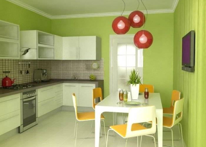 Простой интерьер маленькой кухни