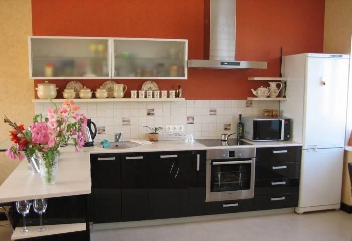 Удачно подобранные цвета для кухни