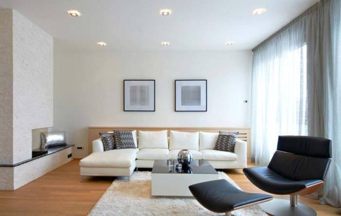 Использование минималистского стиля в гостиной