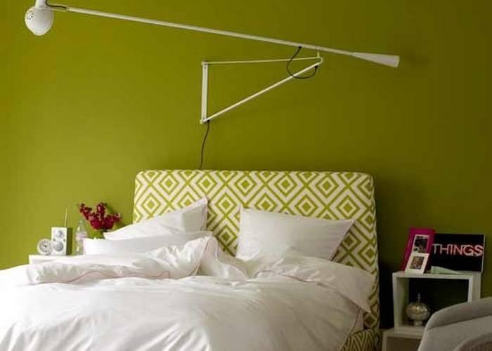Впечатляющая расцветка спальни