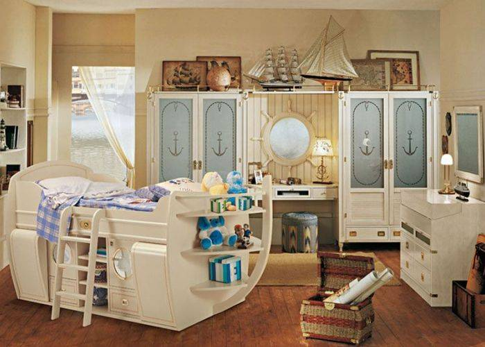 Морская тематика в оформлении детской комнаты