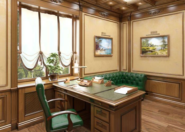 Превосходный интерьер домашнего кабинета