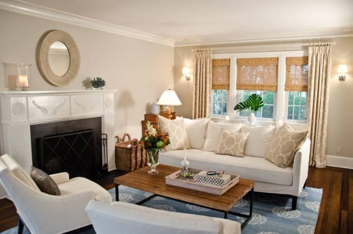 Изысканный интерьер гостиной комнаты