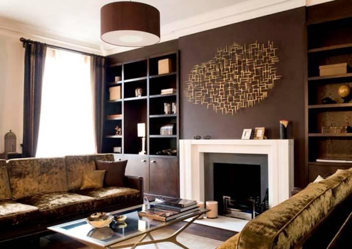 Атмосфера легкости и спокойствия в гостиной