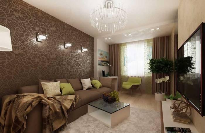 Небольшая, но уютная гостиная комната