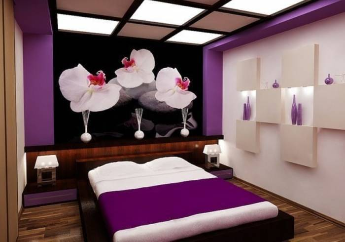 Миниматистский интерьер спальни