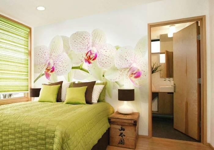 Использование натуральных цветов в спальне