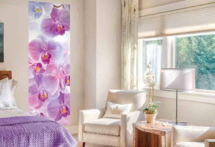 Фотообои с цветами в спальне