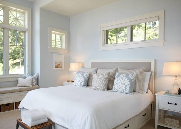 Светлая, свежая и очень симпатичная спальня