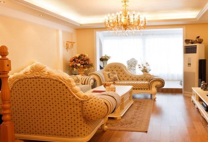 Роскошная мебель в маленькой гостиной