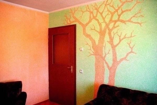 Рисунок в виде дерева на стене