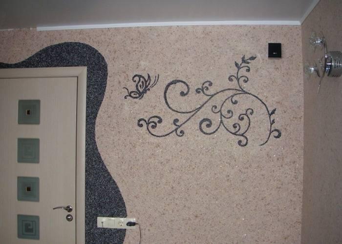 Небольшой орнамент на стене